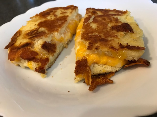 Grilled Cheese Mix Sandwich On Keto Bread