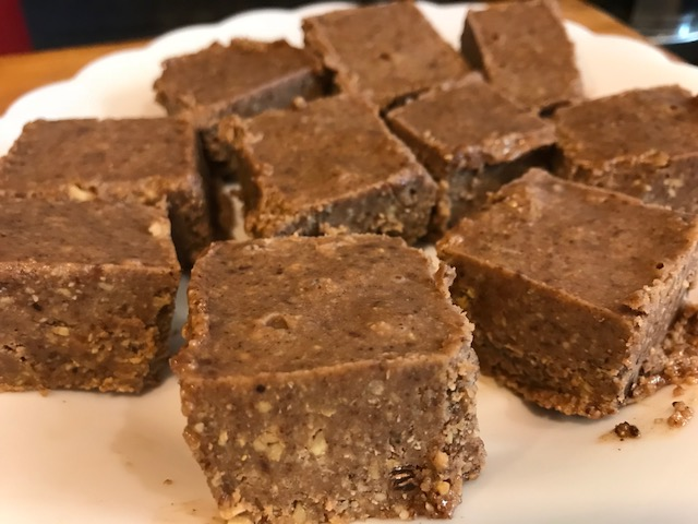 Keto Chocolate Nutty Protein Bars