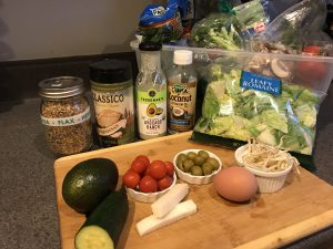 ingredients for keto salad