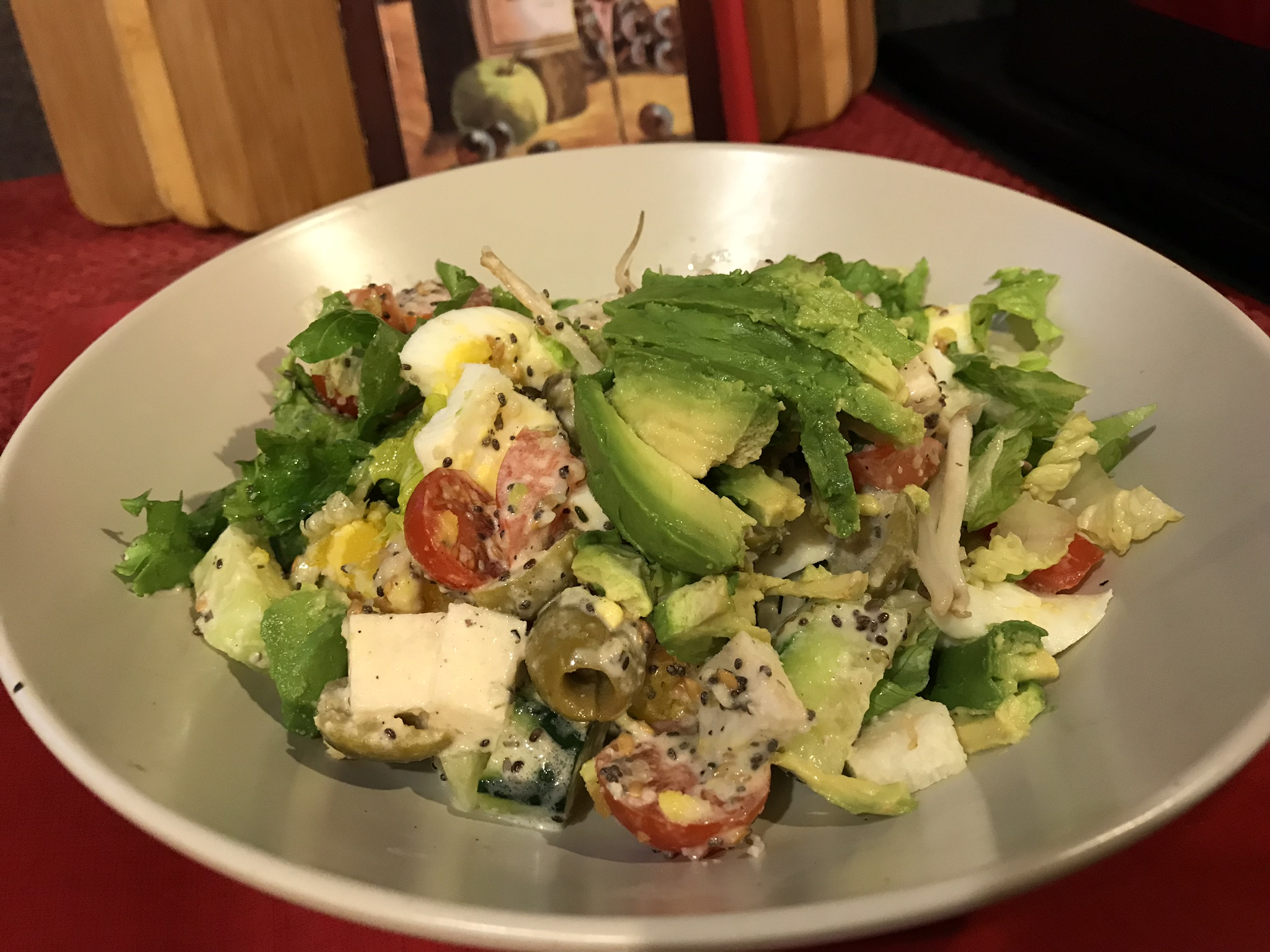 Keto High Fiber, High Fat Salad