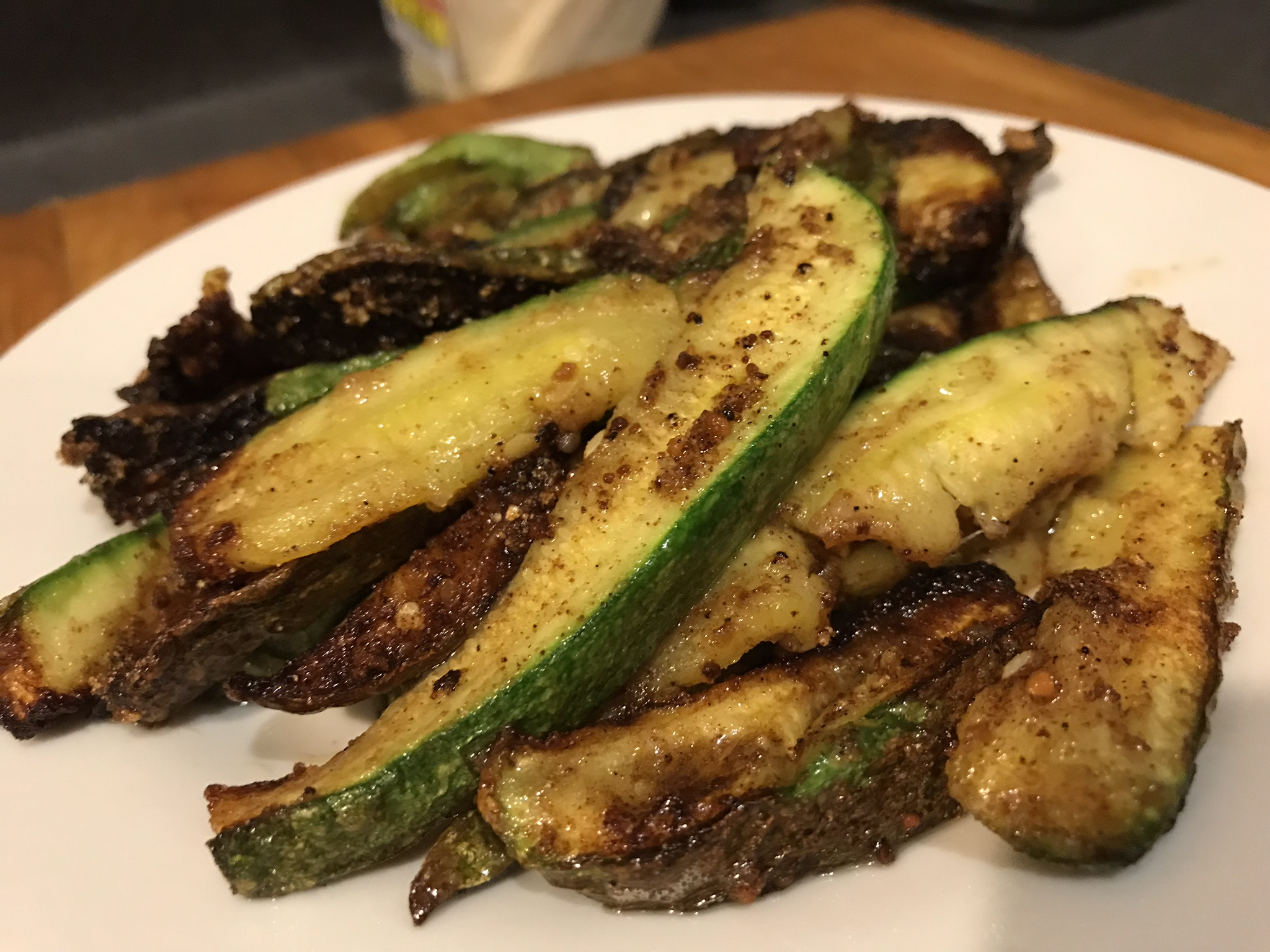 Keto Deep Fried Squash Fries