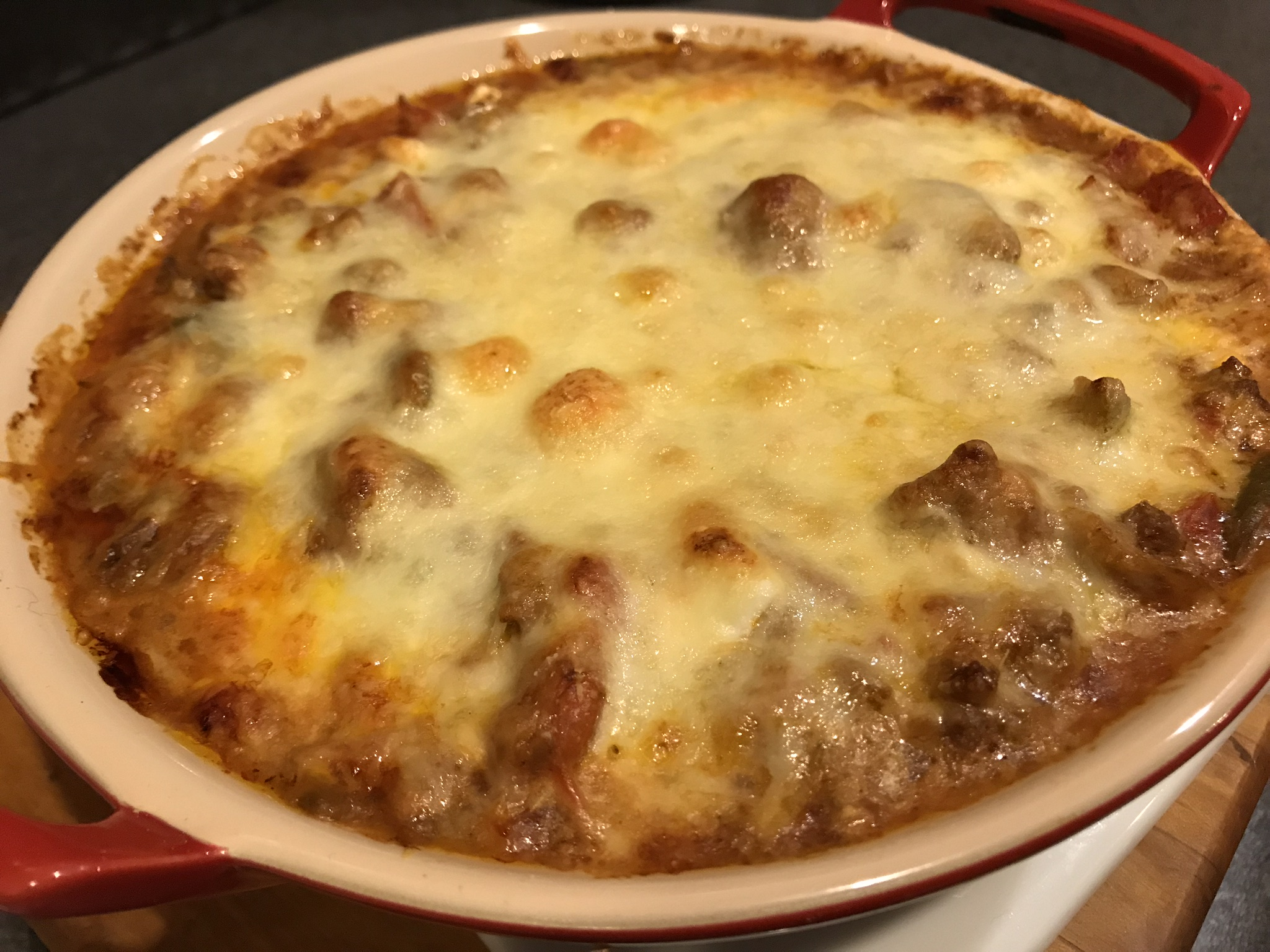 Low Carb Cheesy Beef Casserole