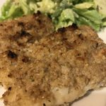 crusty orange roughy fish
