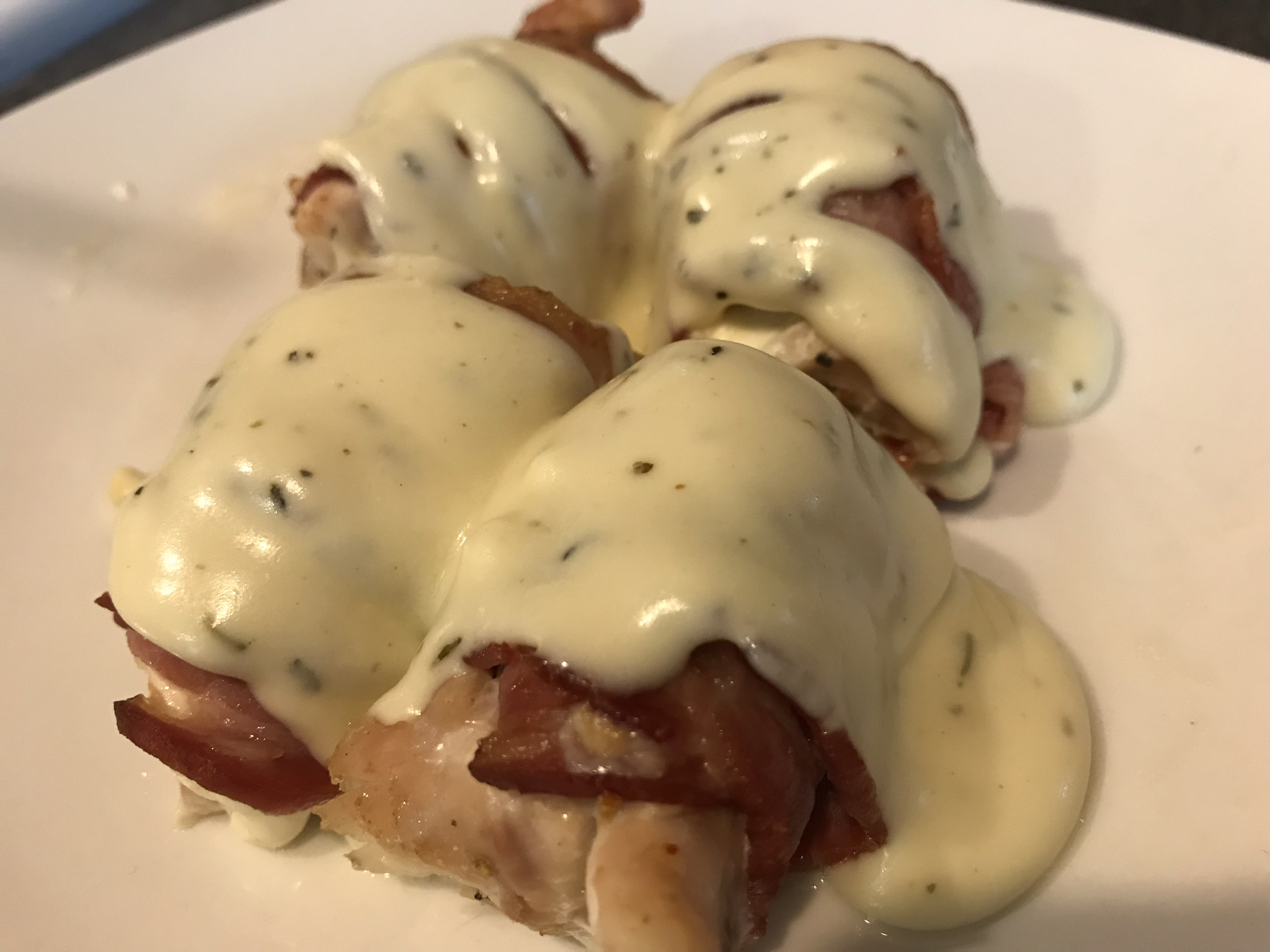 Chicken Bacon Wrap With Cheese Sauce