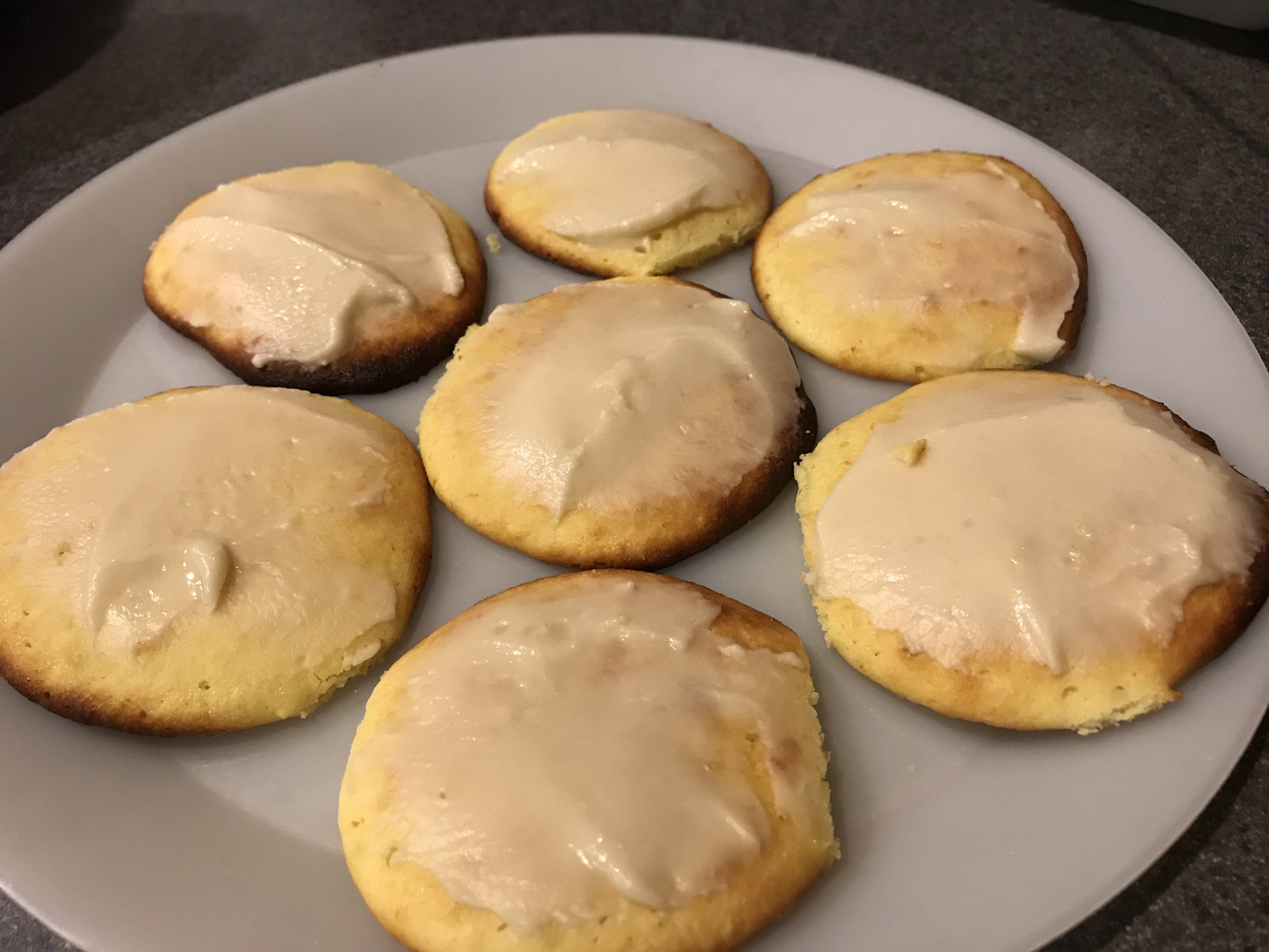 Sugar-free Glazed Lemon Cookies