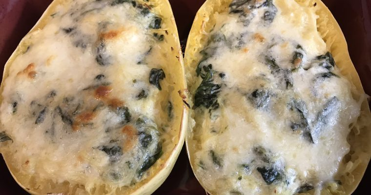 Spinach & Cheese Spaghetti Squash
